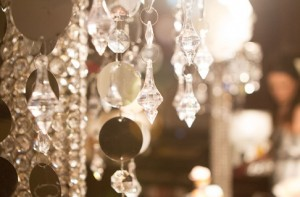 spa party ideas - the perfect chandelier decor