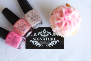cupcake with OPI polishes at a princess spa party vancouver