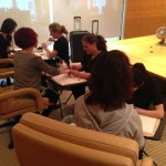 Signature Mobile Spa pampering guests at a corporate event